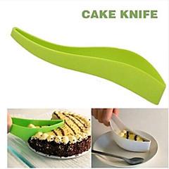 praktisk kage cutter værktøjer kage tærte pålægsmaskine ark guide cutter kage kniv skære et stykke køkken gadget tilfældig farve