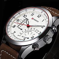 CURREN® Men's Aviator Design Military Watch Japanese Quartz Leather Strap