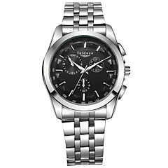 Herren Armbanduhr Quartz Wasserdicht Edelstahl Band Silber Marke-