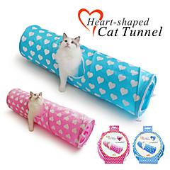 고양이 장난감 반려동물 장난감 튜브 및 터널 폴더 직물 블루 / 핑크