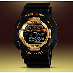 SKMEI® Men's Digital Silicone Band 30m Water-resisstant Multi-Functional Sports Watch1012