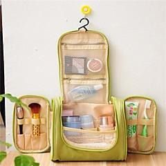 1 τμχ Τσάντα ταξιδιού Τσάντα καλλυντικών Αδιάβροχη Φορητό για Αποθηκευτικοί χώροι ταξιδίου Ύφασμα-Γκρίζο Πράσινο Μπλε Βαθυγάλαζο