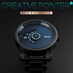 SKMEI® Men Fashion Creative Pointer Rotary Dial Stainless Steel Quartz Watch Cool Watch Unique Watch