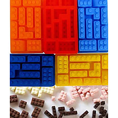 Building Block Style Bricks Ice Cream Cube Maker Silicone Ice Tray Mold Chocolate Moulds(Random Color)
