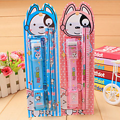1PC Blue Fruit Rabbit Pencil Stationery Set Combination 5 Woolly Pupil Prize Holiday Gifts(Style random)