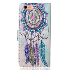 For iPhone 6 Case / iPhone 6 Plus Case with Stand / Flip Case Full Body Case Dream Catcher Hard PU LeatheriPhone 6s Plus/6 Plus / iPhone