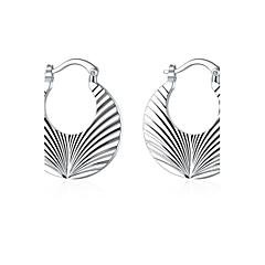 Oorknopjes Clip oorbellen Europees Sterling zilver Koper Verzilverd Cirkelvorm Geometrische vorm Zilver Sieraden VoorBruiloft Feest