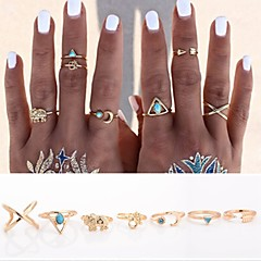 Ring Daily / Casual Jewelry Alloy Statement Rings / Set 7pcs,Adjustable / One Size Gold