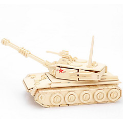 Jigsaw Puzzles 3D Puzzles / Wooden Puzzles Building Blocks DIY Toys Tank Wood Beige Model & Building Toy