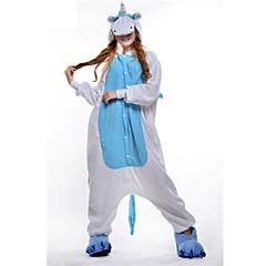 New Cosplay® Blue Unicorn Polar Fleece Adult Kigurumi Pajama(without Shoes)