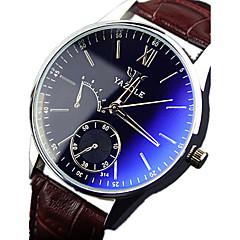 Pánské Náramkové hodinky Křemenný Voděodolné Kůže Kapela Černá Hnědá 1# 2# 3#