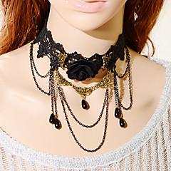 Choker-Halsband / Halsring / Gotiska smycken(Spets,Svart) - tillBröllop / Party / Dagligen / Casual