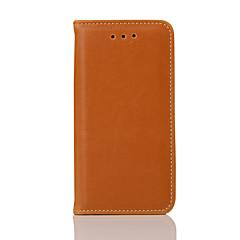 Kompatibilitás iPhone X iPhone 8 iPhone 5 tok tokok Kártyatartó Állvánnyal Flip Mágneses Teljes védelem Case Tömör szín Kemény Valódi bőr