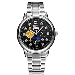 Men's Fashion Watch Imitation Steel Flywheel Dual Calendar Movement Business Waterproof Quartz Watch Wrist Watch Cool Watch Unique Watch