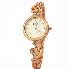 Women's Fashion Diamante Round Dial Alloy Band Quartz Analog Bracelet Watch Cool Watches Unique Watches