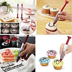 Chokladfondant kaka kaka dekorera isbildning rörlednings munstycken spets skrivpenna
