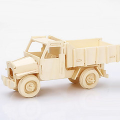 Jigsaw Puzzles 3D Puzzles / Wooden Puzzles Building Blocks DIY Toys Truck Wood Beige Model & Building Toy