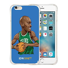 non vi darà la palla morbida in silicone trasparente posteriore per iPhone 6 / 6s (colori assortiti)