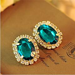 Fashion Full of Diamond Earrings Elegant Gorgeous Imitation Gemstones Stud Earrings