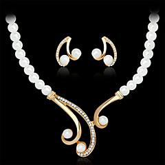 Collar / pendientes(Legierung / Perla Artificial / Brillante / Chapado en Oro) -Boda / Fiesta