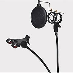 Entegre pop filtresi ve cep telefonu tutucusu siyah kiti ile monte mikrofon standı tutucu şok