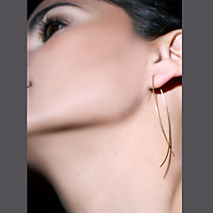 Stud Earrings Simple Style European Fashion Copper Jewelry Black Silver Golden Jewelry For Party Daily Casual 1 Pair