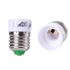 youoklight® 6stk E27 til E14 lys lampe pære adapter konverter - sølv + hvid