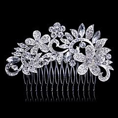 sølv krystal perle hår kamme til bryllupsfest dame smykker