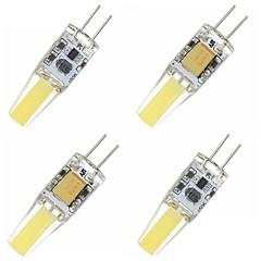 4W G4 LED 콘 조명 T 4 통합 LED 480-560 lm 따뜻한 화이트 / 차가운 화이트 장식 DC 12 / AC 12 V 4개