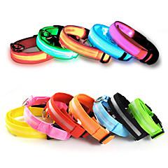 Macskák / Kutyák Nyakláncok Piros / Narancssárga / Sárga / Zöld / Kék / Fehér / Rózsaszín Kutyaruházat Nyár Egyszínű LED