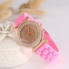 Damen Modeuhr Armbanduhren für den Alltag Quartz Silikon Band Schwarz Weiß Blau Rot Orange Grün Rosa Lila Gelb RoseRot Grün Rosa Hellblau