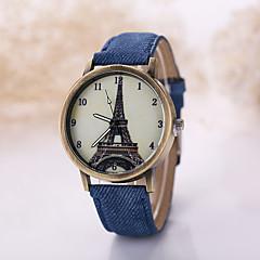 Masculino Relógio de Pulso Quartz Relógio Casual Tecido Banda Preta / Branco marca-
