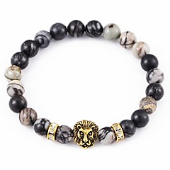 New Arrival Stone Lion Head Bracelet Strand Bracelets Daily / Casual 1pc