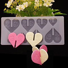 DIY 3D Love Heart Brick Shape Chocolate Plugin Mold for Cake Decoration Silicone Material