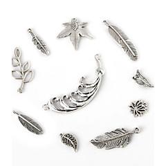 beadia prata antiga pingentes charme de metal pena Olive Tree conectores jóias flor folha DIY acessórios