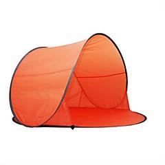 Tenda(Verde / Azul / Laranja / Azul Céu,3-4 Pessoas) -Á Prova de Humidade / Resistente Raios Ultravioleta / Á Prova-de-Chuva / Á