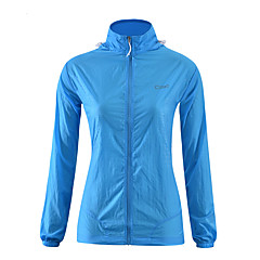 하이킹 탑스 남녀 공용 통기성 / 자외선 방지 여름 / 가을 옐로우 / 블루 / 퓨샤 S / M / L / XL 운동&피트니스 / 레저 스포츠 / 크로스-컨츄리 / 산간(오지)-스포츠