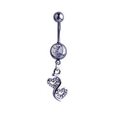 Női Testékszer Navel & Bell Button Rings Ezüst utánzat Diamond Heart Shape Ezüst Ékszerek Napi Hétköznapi 1db