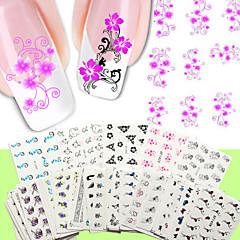 50 Neglekunst Klistermærke Vandoverførende decals Andre Dekorationer Blomst Makeup Kosmetik Neglekunst Design