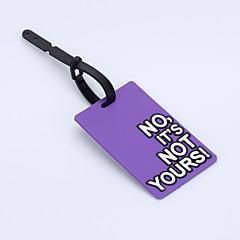Voyage étiquette de bagage - Non, ce n'est pas le vôtre (rose)