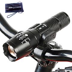 Oświetlenie Latarki LED LED 3000 Lumenów 5 Tryb Cree T6 18650 / AAARegulacja promienia / Wodoodporne / Akumulator / Odporne na czynniki
