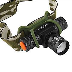 조명 헤드램프 / 헤드 램프 스트랩 LED 1200 루멘 4.0 모드 Cree XM-L T6 14500 조절가능한 초점 캠핑/등산/동굴탐험 / 일상용 / 사이클링 알루미늄 합금