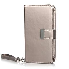 Voor Samsung Galaxy S7 Edge Kaarthouder / Portemonnee / Flip hoesje Volledige behuizing hoesje Effen kleur Echt leer SamsungS7 edge / S7