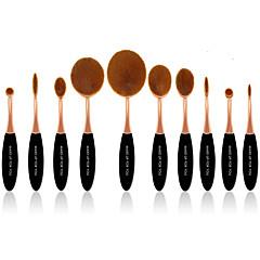 10 Zestawy Brush Włosie synetyczne Profesionální / Pełne pokrycie Plastic Twarz / Oko / Warga MAKE-UP FOR YOU