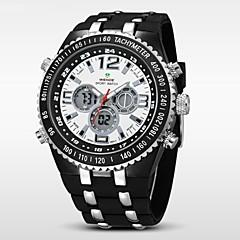 Pánské Náramkové hodinky Japonské Quartz LCD / Kalendář / Chronograf / Voděodolné / Hodinky s dvojitým časem / poplach Pryž Kapela Černá