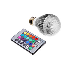 9W E26/E27 LED Globe Bulbs Integrate LED 500 lm RGB Remote-Controlled AC 85-265 V