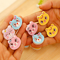 4PCS Student stationery /cartoon cat expression rubber eraser / teaching kindergarten pupils award prize(Style Random)