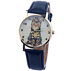 Vintage Watch Cat Leather Watch Womens Watch Ladies Watch Mens Watch Unisex Watch Cool Watches Unique Watches
