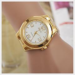 Mujer Reloj de Moda Cuarzo Reloj Casual Aleación Banda Dorado Marca-