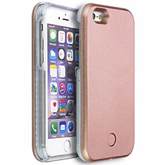 Mert iPhone 6 tok iPhone 6 Plus tok tokok LED Hátlap Case Egyszínű Kemény PC mert iPhone 6s Plus iPhone 6 Plus iPhone 6s iPhone 6